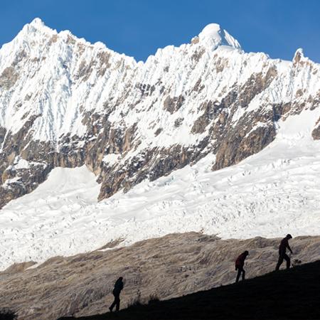 Hicken in de bergen